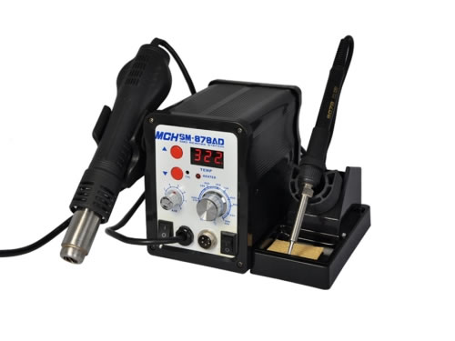 SM-878AD 2 in 1 Soldering Station